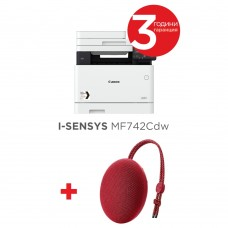 Canon i-SENSYS MF742Cdw Printer/Scanner/Copier + Huawei Sound Stone portable bluetooth speaker CM51 Red - Подарък тонколонка Huawei CM51! Валидност до 30.04.2020г. Промоция