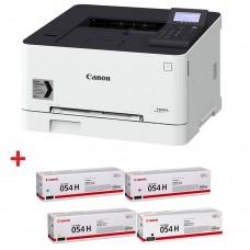 Цветни лазерни принтери Canon i-SENSYS LBP623Cdw + Canon CRG-054H BK + Canon CRG-054H C + Canon CRG-054H M + Canon CRG-054H Y