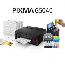 Мастиленоструйни принтери Canon PIXMA G5040 + Dark Fabric Iron-on Transfers A4