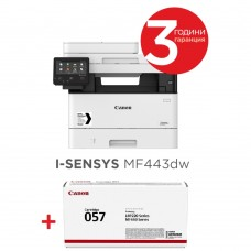 Canon i-SENSYS MF443dw Printer/Scanner/Copier + Canon CRG-057